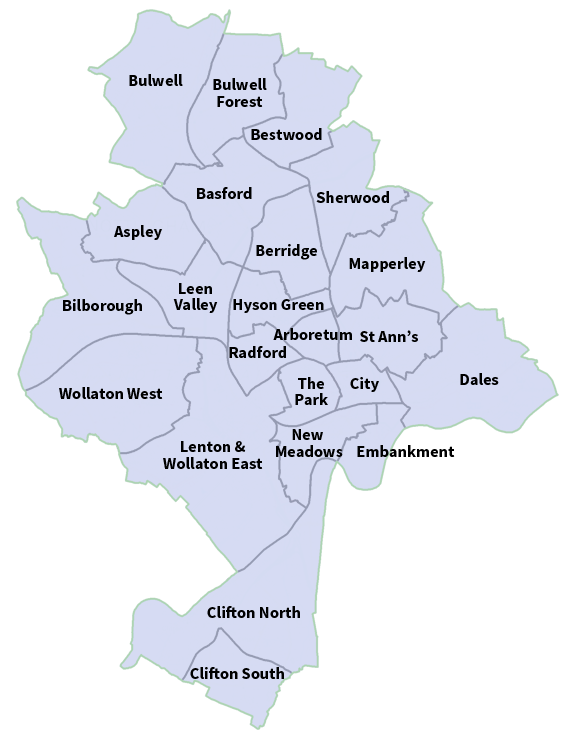 Nottingham Wards
